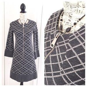 7eb1a2ba379 BLUE Les Copains Gray Diamond Knit Shift Dress